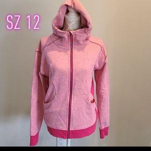 Lululemon pink/Raspberry two tone scuba hoodie